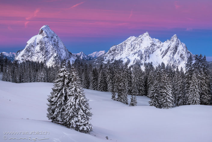 Schwyz Mythen Winter