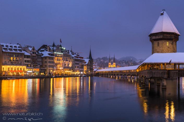 Luzern Stadt Kapellenbrücke