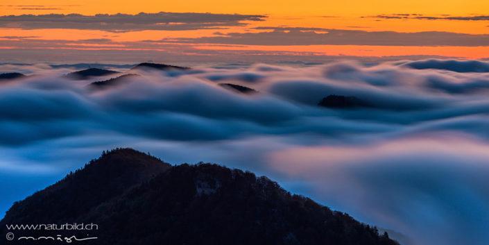 Jura Hügel nebelmeer