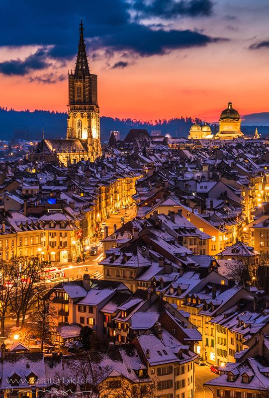 Bern Stadt Rosengarten