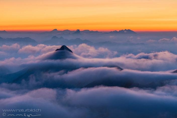 Alpen Schweiz Nebel