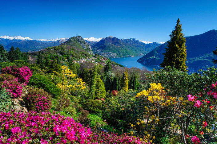 Tessin Parco Botanico San Grato Aussicht