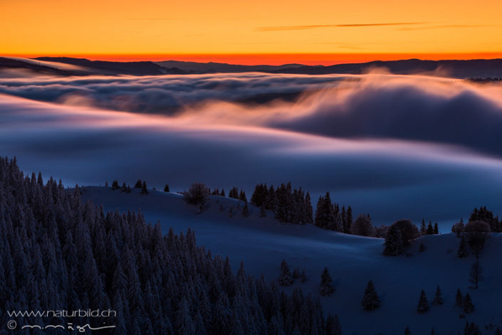 Chasseron Winter Nebelwelle