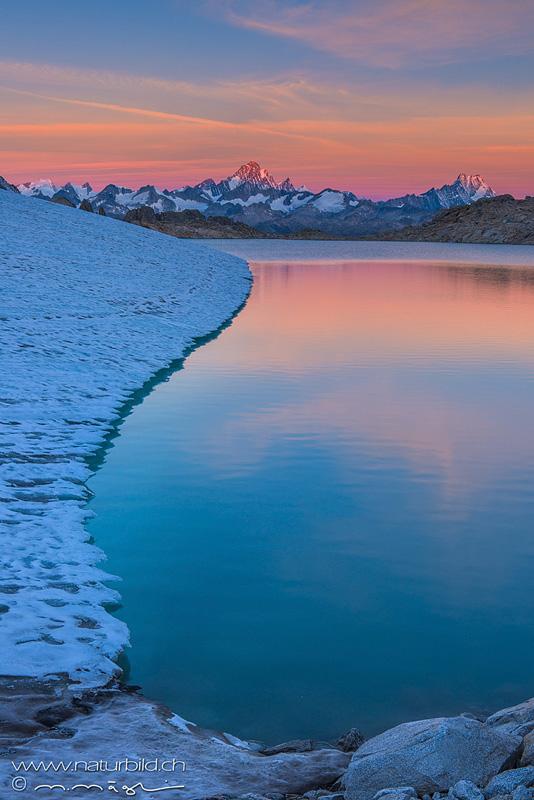 Gerenpass Abendstimmung Gletschersee