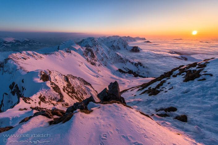 Gurnigel Gantrisch Sonnenuntergang