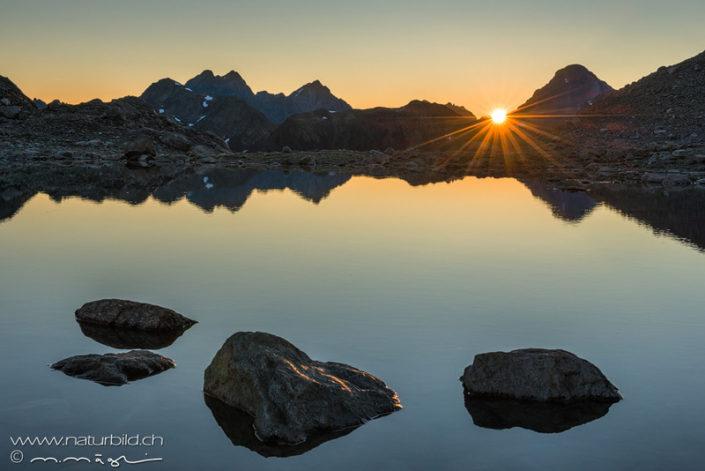 Graubünden Bergsee Flüelapass