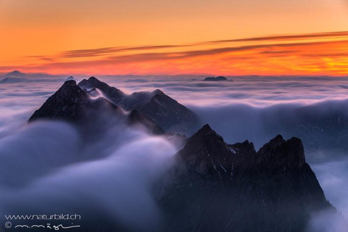 Nebel Kaiseregg mystisch