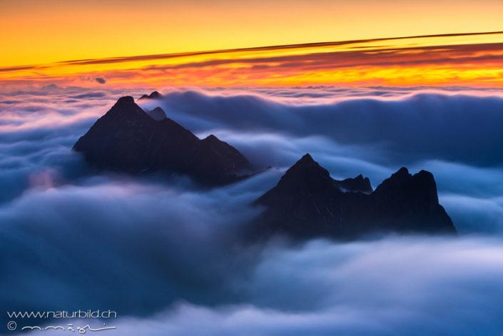 Fribourg Kaiseregg Nebel