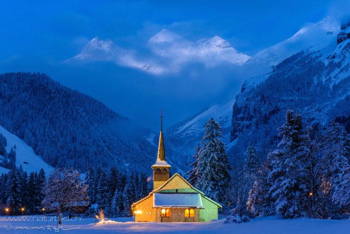 Kandersteg Kirche Winter