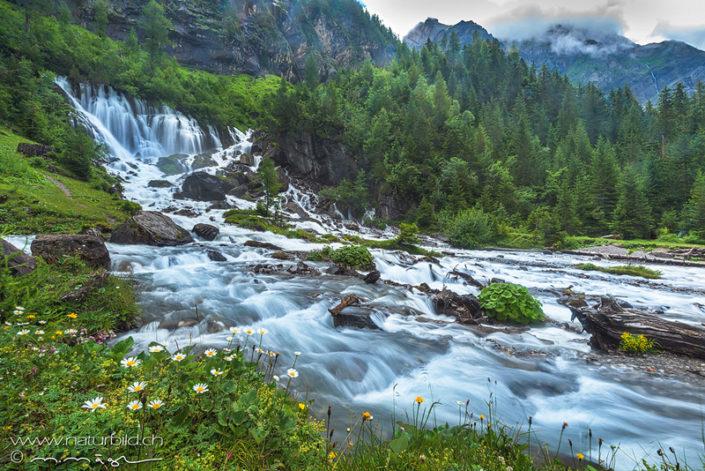 Lenk Siebenbrunnen Wasserfall