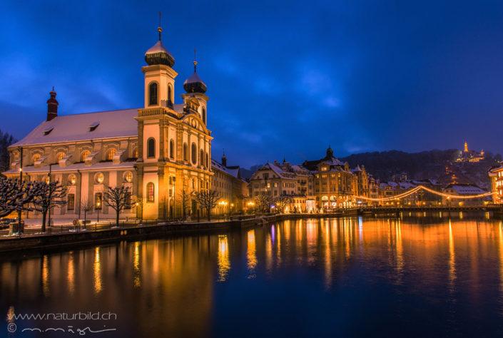 Luzern Stadt Nacht