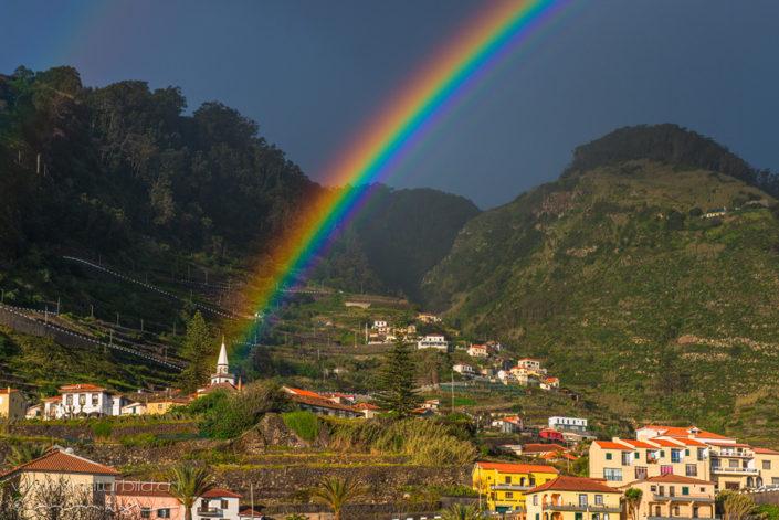 Porto Moniz Regenbogen Madeira