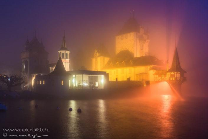 Schloss Oberhofen beleuchtet