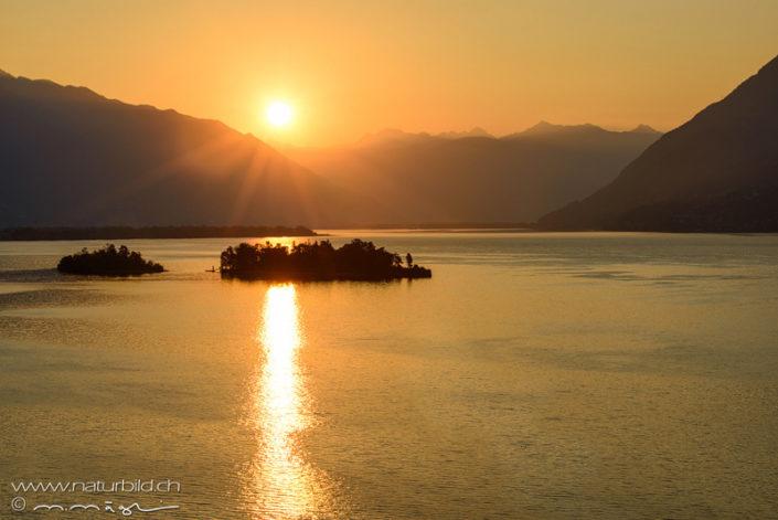 Tessin Ronco Sonnenuntergang
