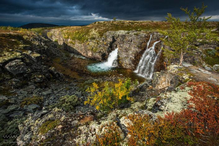 Wasserfall Rondane Norwegen
