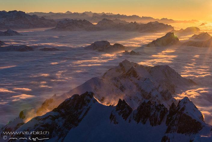 Säntis Sonne Nebelmeer