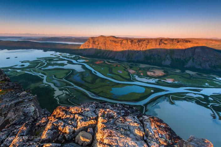 Sarek Flussdelta Bergehuegel