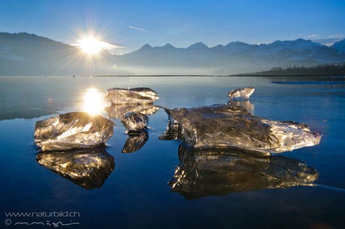 Thunersee Eis Berge