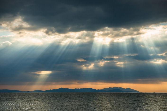 Toskana Meer Sonnenstrahlen