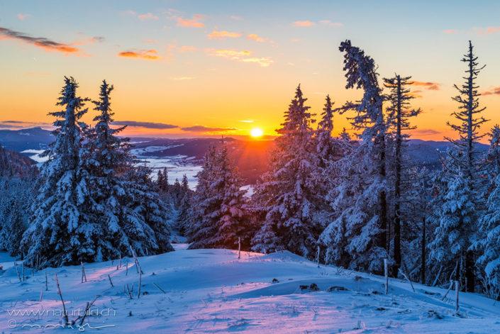 Jura Winter Sonnenuntergang