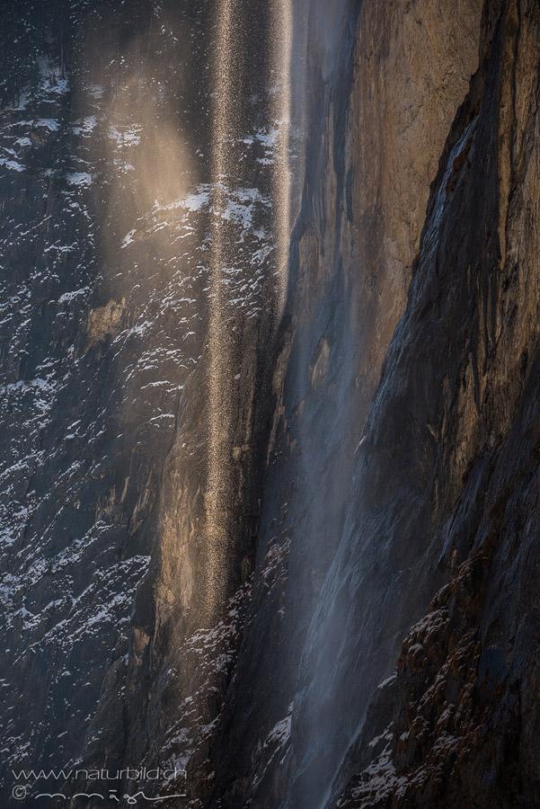 Staubbachfall Wasserwand Details