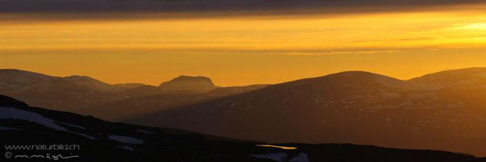 Panorama Abisko Sonnenuntergang Landschaft
