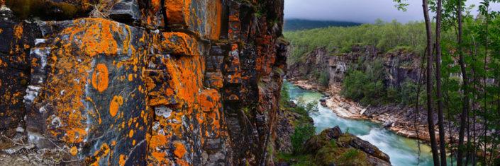 Panorama Abisko Fluss Felswand