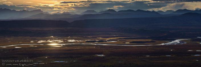 Panorama Alaska Fluss Berge