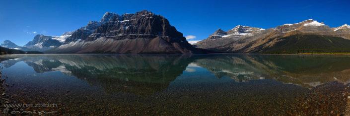 Panorama Banff Spiegelung See