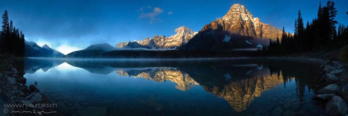Panorama Banff Spieglung Berge