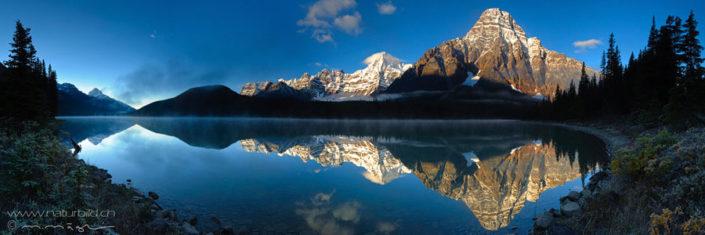 Panorama Banff Nordamerika Sonnenaufgang