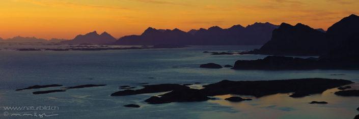 Panorama Bodo Abendstimmung Kueste Nordeuropa