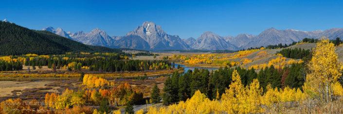 Panorama Grand Teton Landschaft Nordamerika