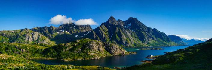 Panorama Lofoten Norwegen Fjord