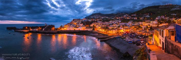 Panorama Camara de Lobos Madeira Abendstimmung