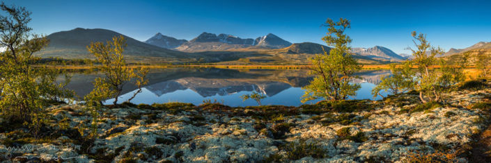 Panorama Rondane Seespiegelung Herbst