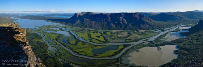 Panorama Flussdelta Sarek Schweden