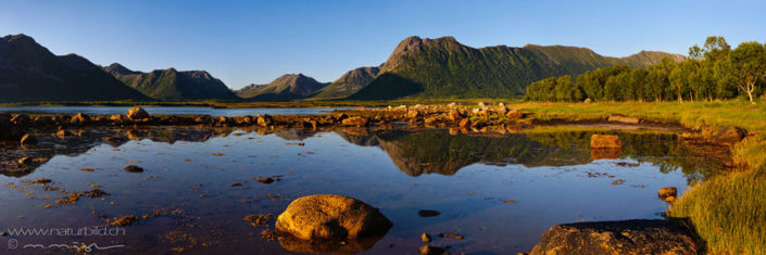 Panorama Vesteralen See Berge
