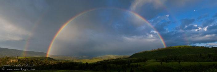 Panorama Yellowstone dopppelter Regenbogen