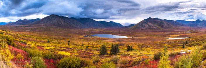 Panorama Yukon See Ebene farbig
