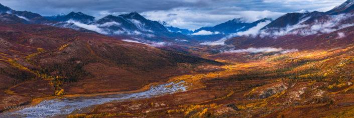 Panorama Yukon Canada Berge Herbst