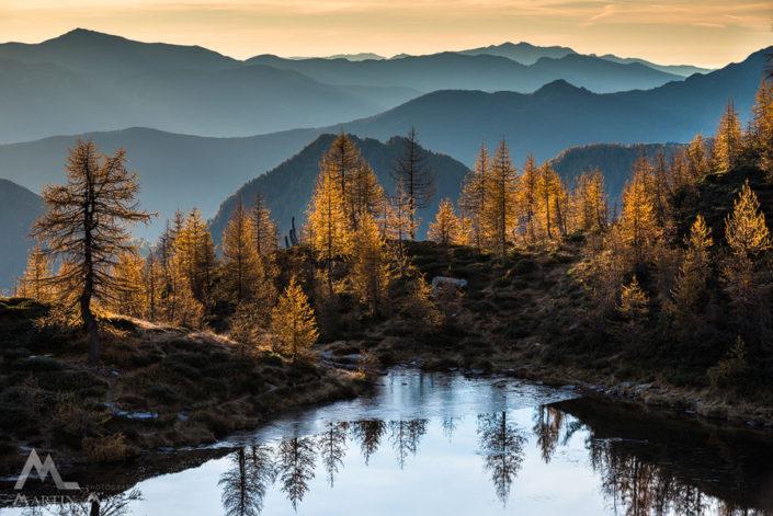 Tessin Bergsee Herbst