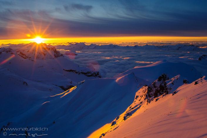 Schilthorn Gipfel Sonne