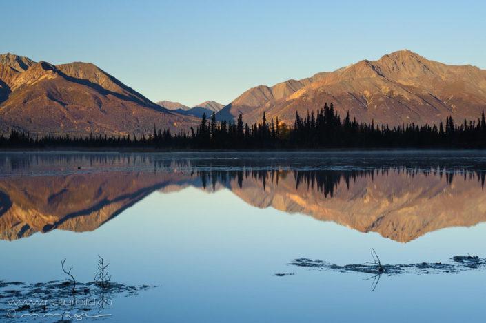 Alaska Spiegelung Berge