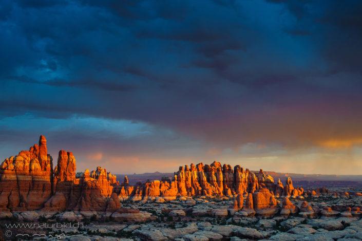 Canyonlands Felsen Sonnenuntergang