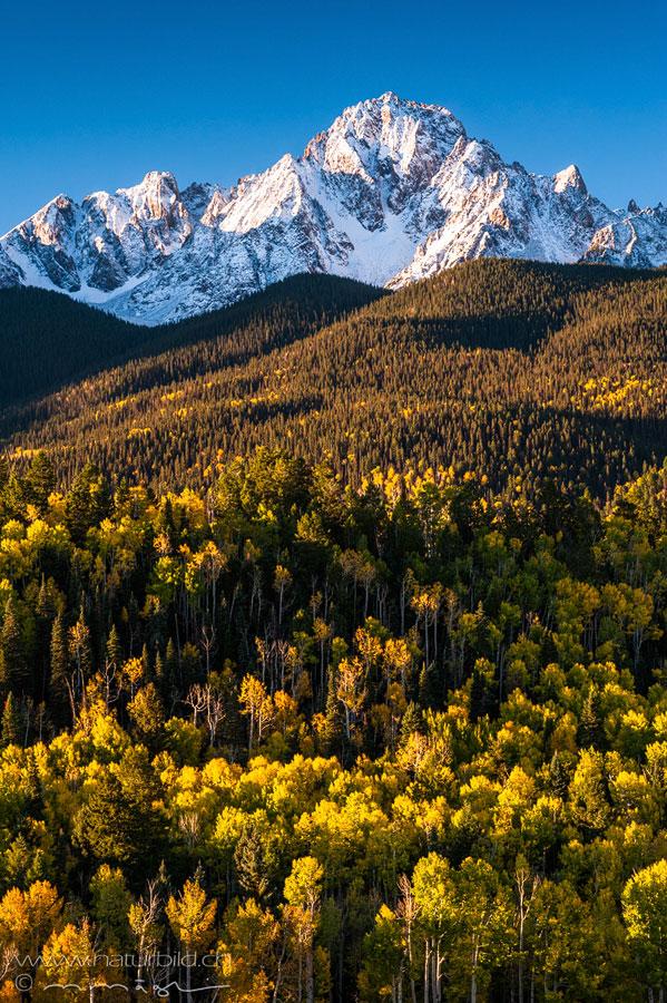 Colorado Berggipfel Schnee