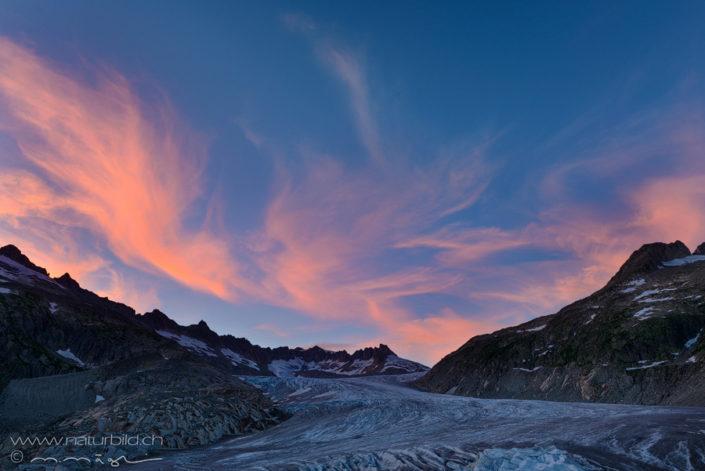 Furka Gletscher Schleierwolken