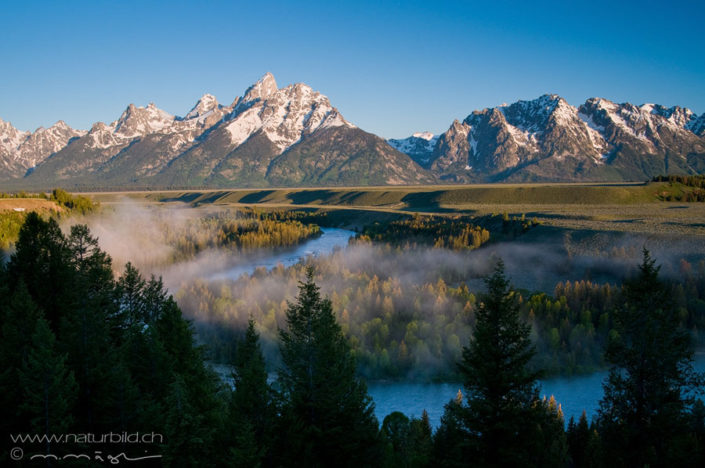 Grand Teton Wyoming Fluss