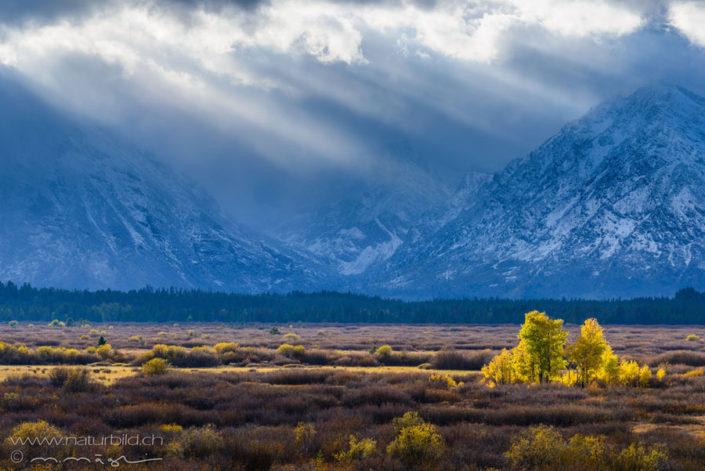 Grand Teton Wildnis Sonnenstrahlen