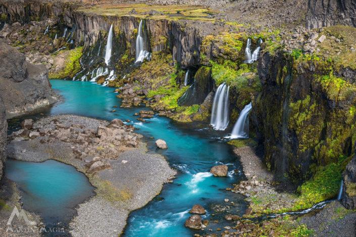 Wasserfall Island Bach